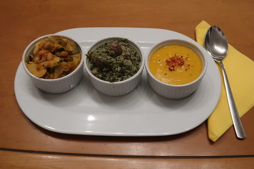 Komposition von dreierlei Suppenresten