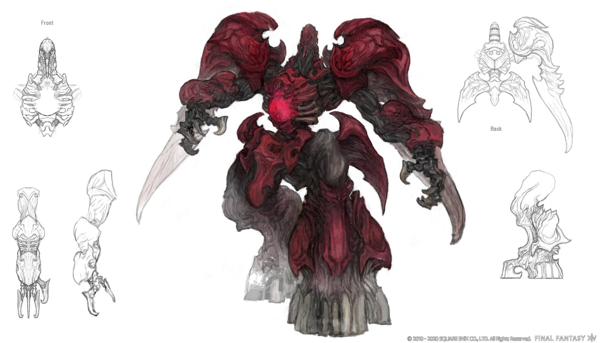 Final Fantasy XIV: Shadowbringers - Ruby Weapon concept art on PS4