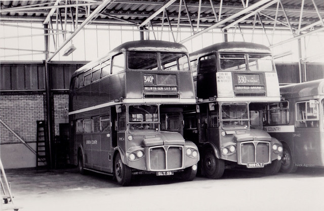 A trio of London Country Buses - Hatfield Garage, c 1972