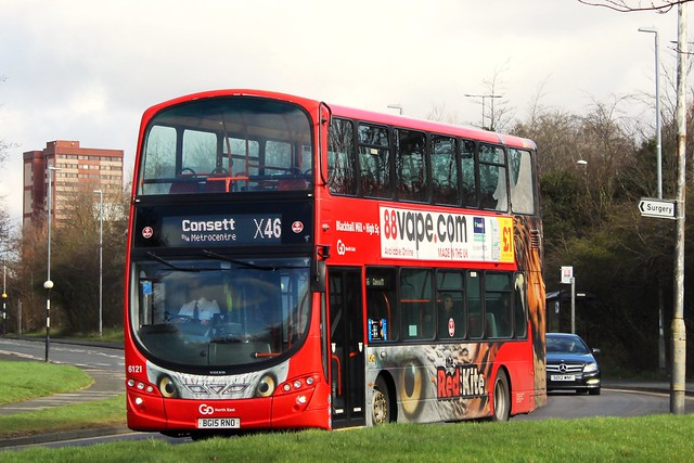 Go North East The Red Kite 6121 / BG15 RNO