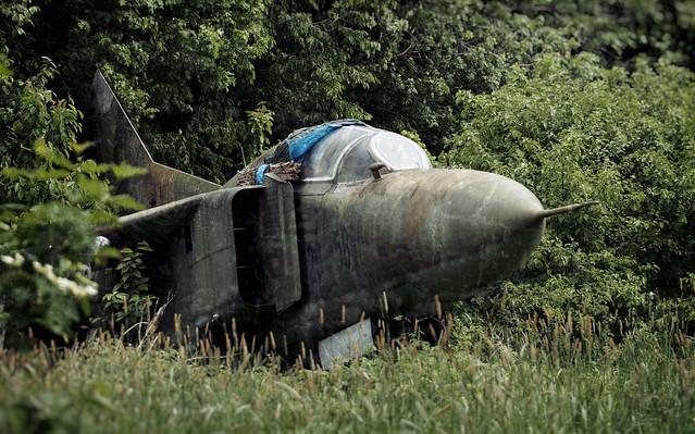 Abandoned MiG-23UB (Nationale Volksarmee)