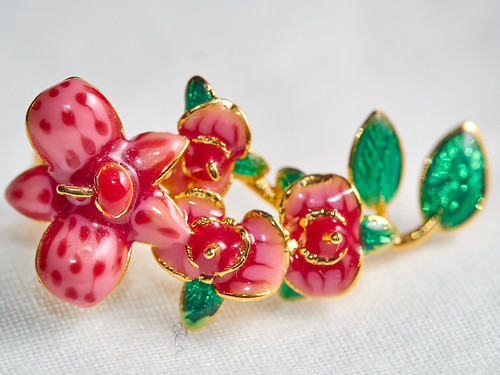 Gem fruit necklace (red/green) | by James E. Petts