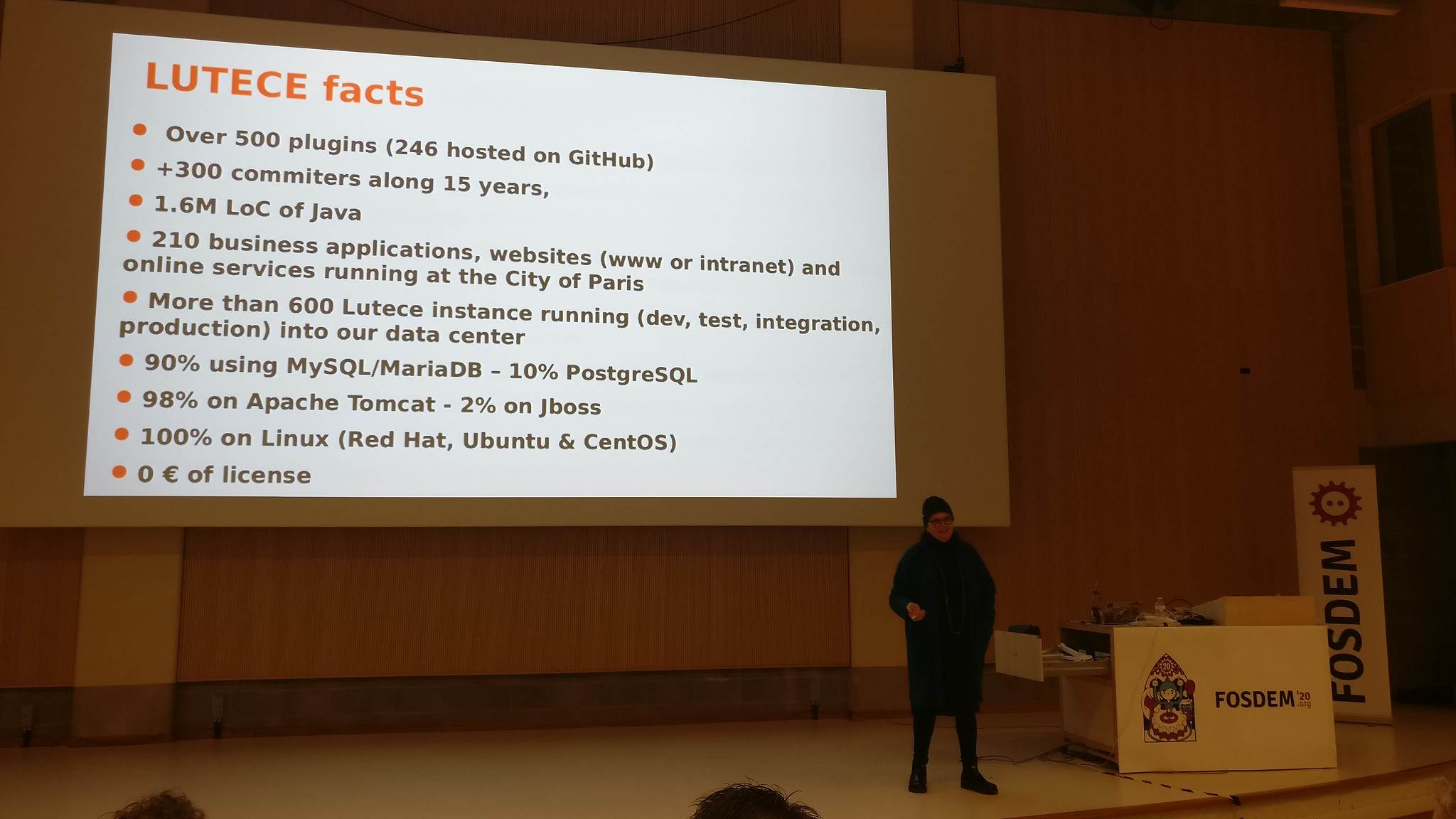 Lutèce facts presented in FOSDEM 2020