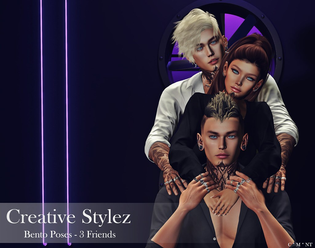 Creative Stylez – Bento Poses – 3 Friends –