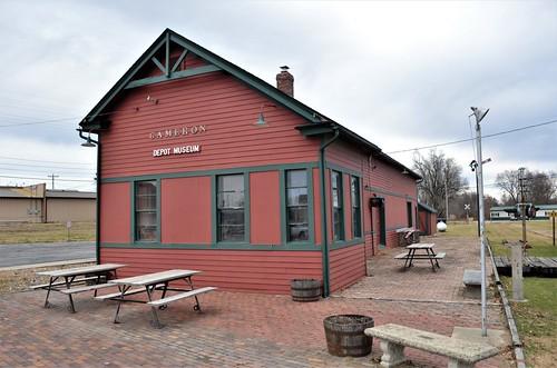 railroad depot station missouri 1883 chicago burlingtonandquincyrailroad cameronmissouri us69