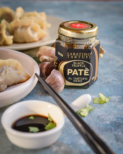 Truffle pate and beef dumplings