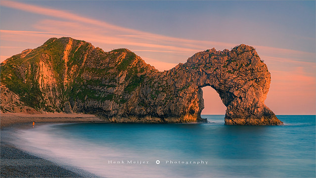 The Girl at Durdle Door - Dorset - England