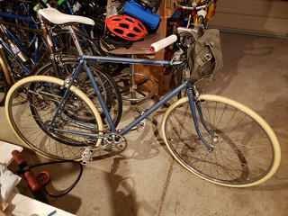 BACK FROM MY TEST RIDE, PARKED AND DRY, AND WARMER--SORT OF