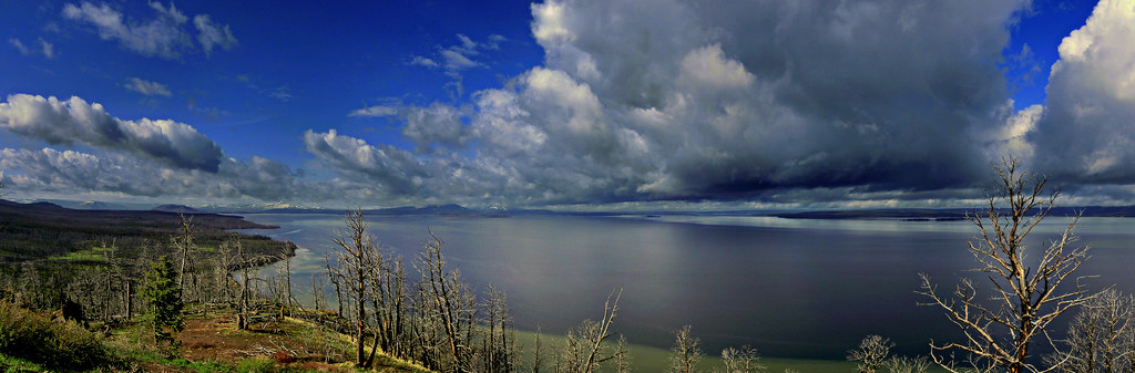 Lake Butte Overlook - Yellowstone National Park, WY -  Panorama