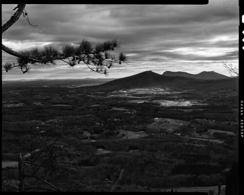 scottstallings charlotte nc hangingrockstatepark pilotmountainstatepark chamonix nikkorw kodak trix 320txp 210mmf56 r25 xtol11 screen 1045ai