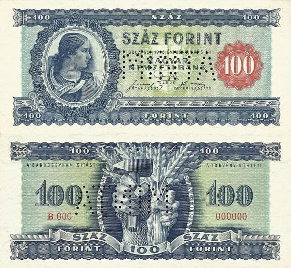 100 forintov Maďarsko 1946 MINTA - REPLIKA