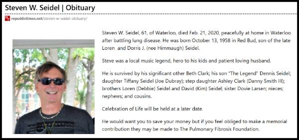 Steven W. Seidel Obit