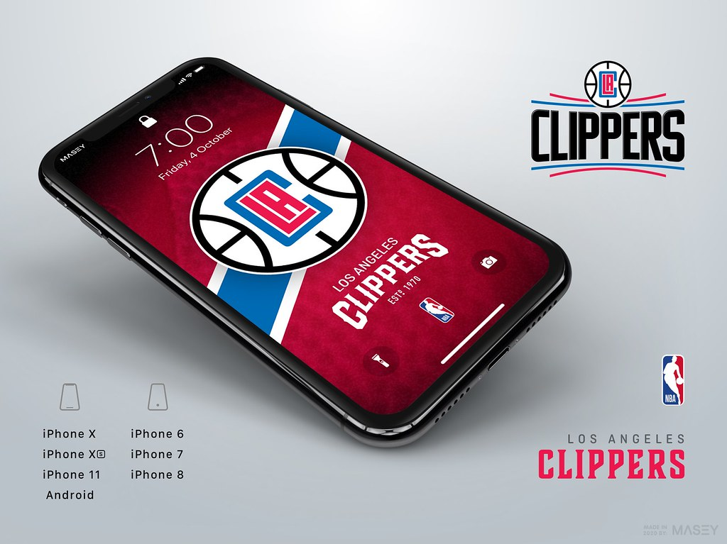 LA Clippers iPhone Wallpaper