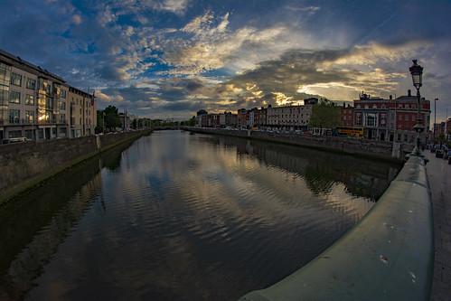 dublin sunset irland eire dublino irlanda aristodemo