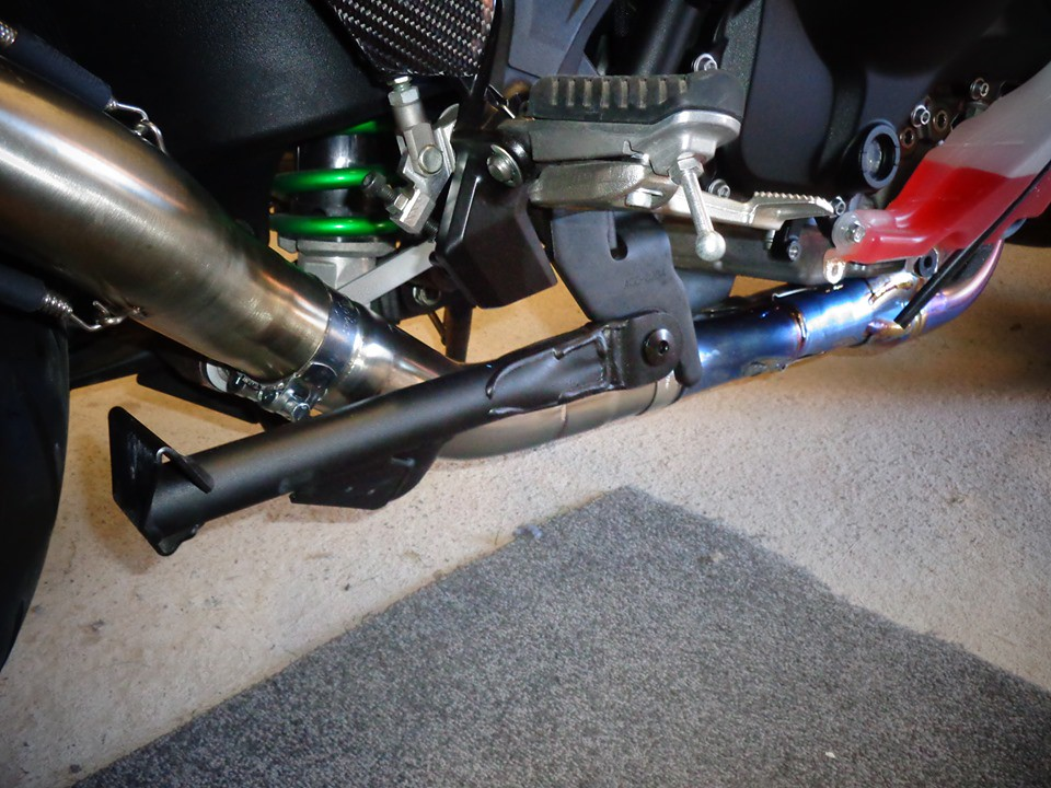 Kawasaki H2 SE SX De cat exhaust pipe with ZX10R Headers by Max Torque Cans burscough UK. jpg (1)