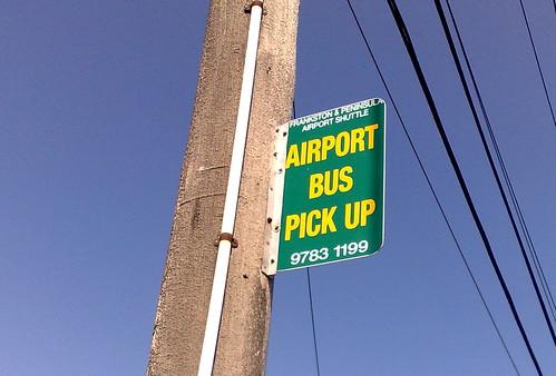 Pre-Skybus FAPAS Airport Bus stop, Moorabbin, February 2010