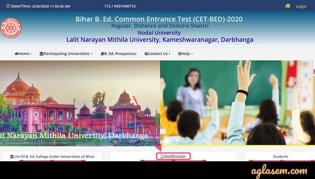 Bihar B.Ed 2020 Admit Card