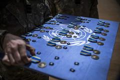 Cérémonie de remise des médailles des Nations Unies