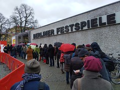 Yesterday morning's queue for First Cow by Kelly Reichardt #Berlinale #Berlinale2020