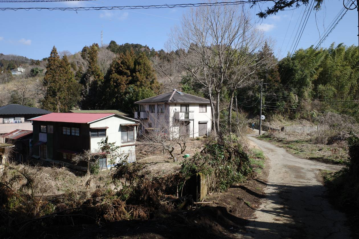 高松山近くの集落