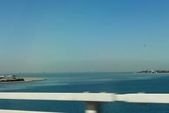 On the road, King Fahd Causeway