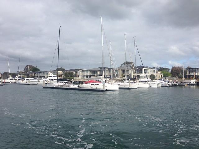 Boats at Martha Cove, Safety Beach