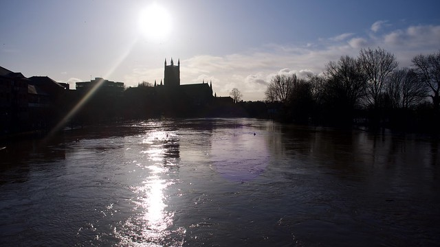 Silhouette of Worcester Cathedral
