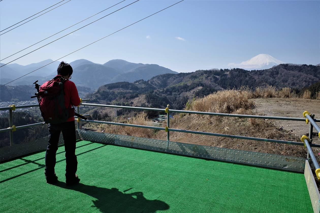 展望デッキからの富士山