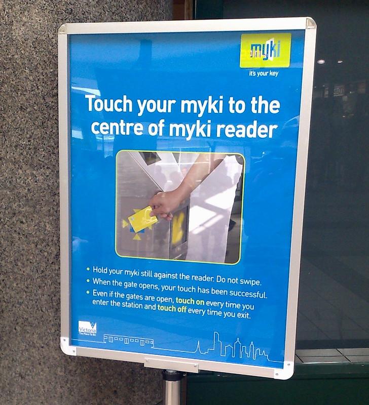 Myki poster, February 2010