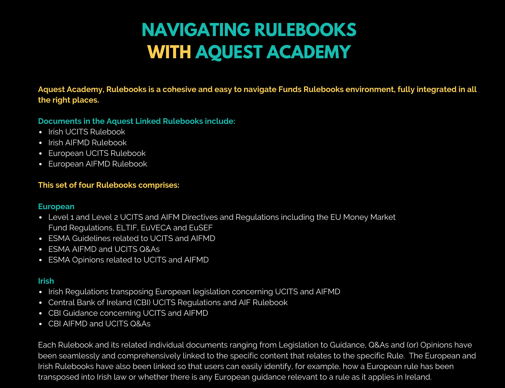 navigating rulebooks with aquest academy