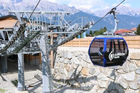 Nová kabinková lanovka v areálu Glungezer
