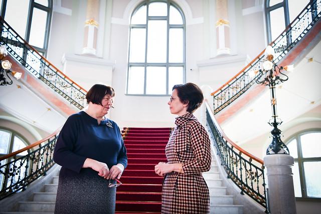26.02.2020 Valsts prezidenta dzīvesbiedre Andra Levite apmeklē Latvijas Nacionālo mākslas muzeju