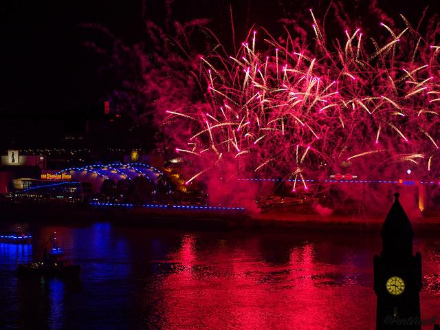 Blue port fireworks 2019 - Hamburg, Germany