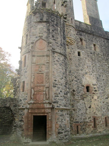 Entrance to Huntly Castle