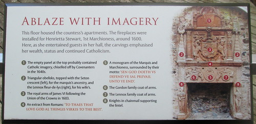 Fireplace Information Board, Huntly  Castle
