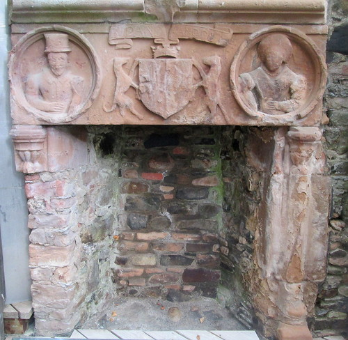 Fireplace, Huntly Castle