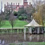 Miller Park bandstand under water