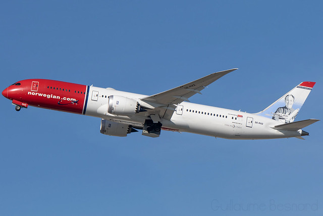 Boeing 787-9 Norwegian Air Sweden SE-RXZ cn 38895/647