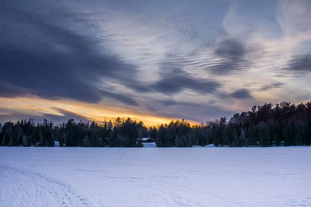 Sunset over Big Hosmer Lake