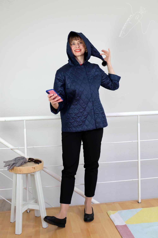 marchewkowa, szycie, Wrocław, retro, stare wykroje, kurtka, pikówka, Beyer Mode 1/1959, winter jacket, vintage sewing pattern, quilted fabric, retro outfit