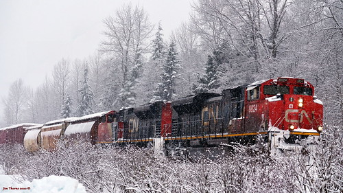 People of the Snow train