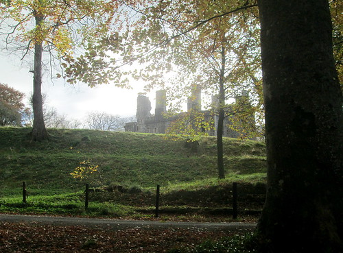 Huntly Castle from Grounds