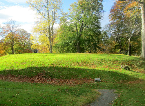Old Motte Castle Remains at Huntly