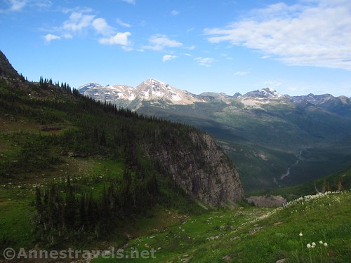 Heavens Peak from the far side of Haystack Pass, Highline Trail, Glacier National Park, Montana