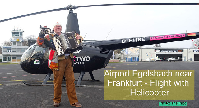 My Helicopter Flight from Egelsbach to Frankfurt and back