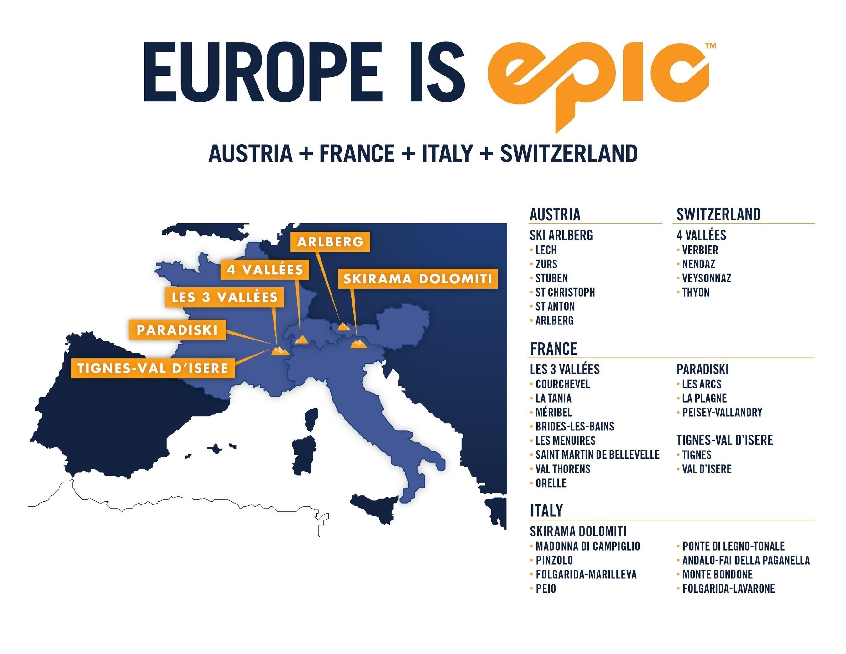 Epic Pass en Europa