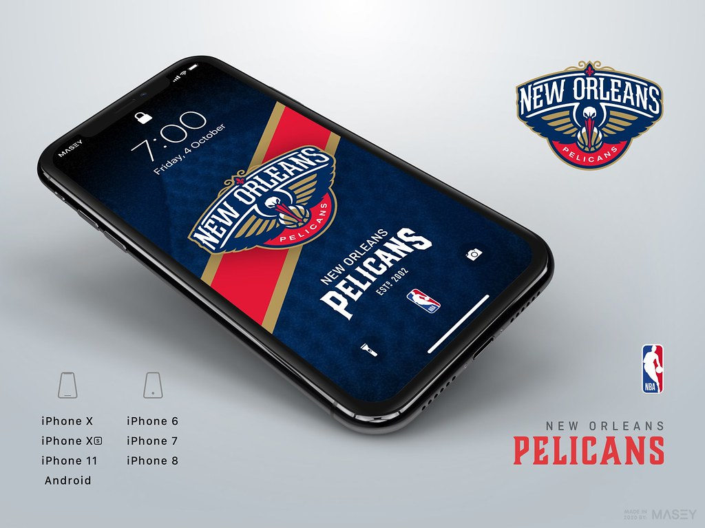 New Orleans Pelicans iPhone Wallpaper