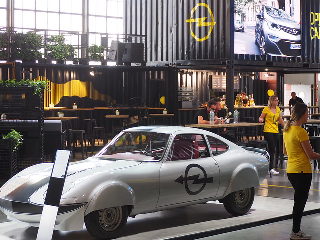 Electric Car - Presentation of the Opel Company in Ruesselsheim, Germany, during the Hessentag, the State Festival of Hesse 2017