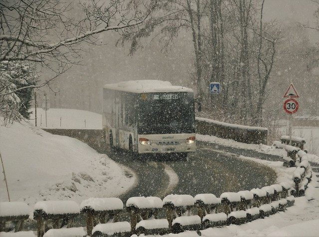 Setra S415LE Autocars Borini DZ-242-BV Praz sur Arly (74 Haute-Savoie) 26-02-20a