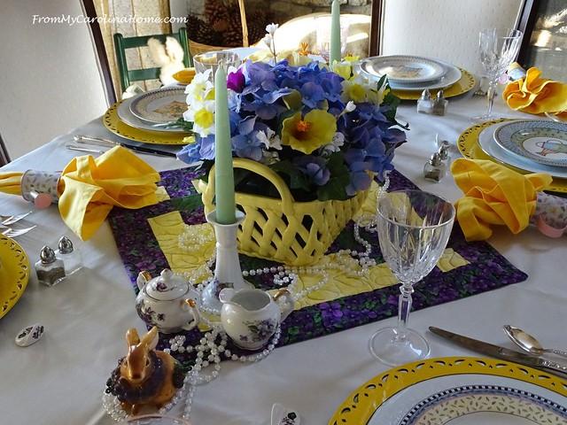 Springtime Tablescape at FromMyCarolinaHome.com